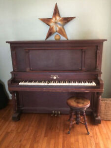 Old piano and stool