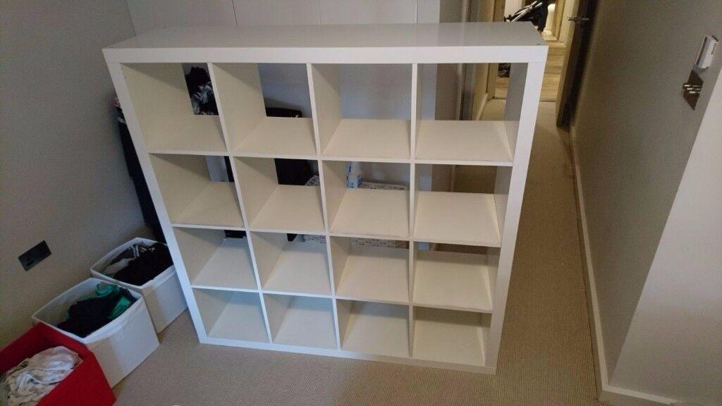 ikea kallax shelves white 1x4 and 4x4 in hampstead london gumtree. Black Bedroom Furniture Sets. Home Design Ideas