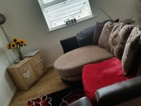 Larger 2 seater sofa and a 1 seater sofa for sale.