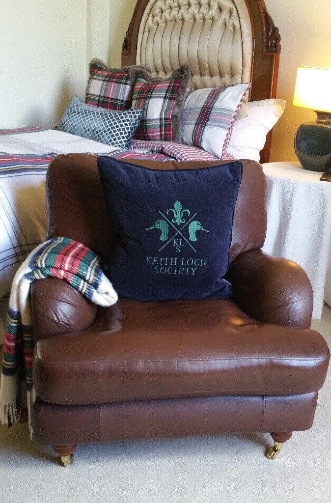 Multiyork Real Leather Armchair Chair Howard Style Rrp 2300 For
