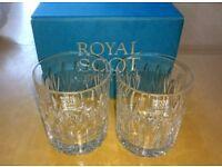 BNIB Royal Scot Large Old Fashioned tumblers x 2
