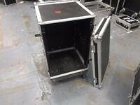 16u Rack mountable flight case on wheels