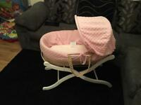 Baby girl Moses basket