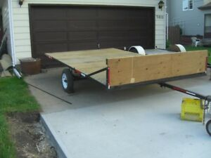 7 FT 6 INS X 12 FT LONG TILT DECK TRAILER