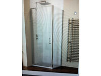 Hydrolux 700mm x 700mm Pivot Shower Enclosure with Side Panel