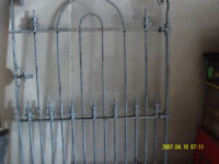 Decorative Heavy Antique Wrought Iron Gate 96cm Wide x 120cms High with matching cast iron posts