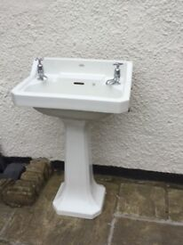 Royal Doulton sink and pedestal