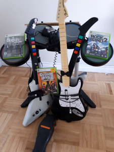 Rock Band games and equipment for Xbox 360