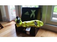 Adidas Sock Football Boots (size 8.5 UK) X 17.1 SG Leather (Brand New)