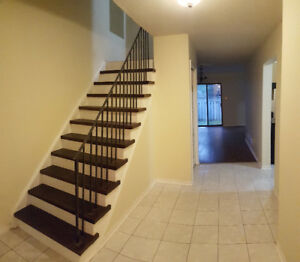 Newly renovated 3 bdrm townhouse with finished basement