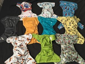 GroVia cloth diaper set