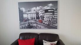 Large ikea London picture in frame