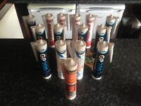 Tubes of silicone x 15 (New)