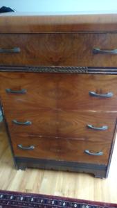 Antique bureau / tallboy /chest of drawers.
