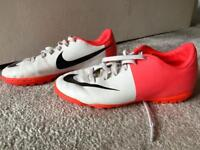 Nike mercurial boys football boots. Kids size 12