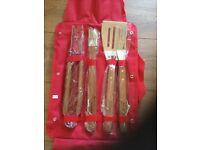 Budweiser BBQ Barbeque 4 piece tool set