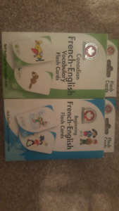 French books and Bilingual flash cards