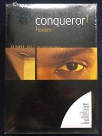 Conqueror Texture A4 paper. 2 reams available
