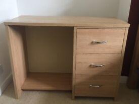 Desk with storage drawers