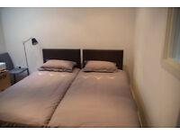 2 SINGLE BEDS, matress + frames