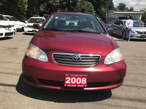 2008 Toyota Corolla CE,PL,PW,AC,AM,FM,CERTIFIED