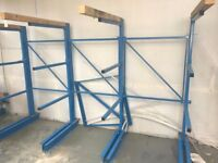 Light Duty Single Sided Cantilever Racking with extension bays