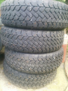 Studded winter tires 15 inch