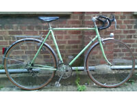 Vintage road racing bike PEUGEOT frame size 23inch - 12 speed, serviced WARRANTY