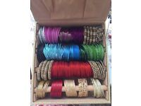 Bangle box red gold bridal green purple silver blue pink bangles kyles FREE tiara bindi and tikka