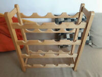 16 bottle wooden wine rack