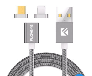 Magnetic cable iPhone Samsung Apple Android. Charge and data