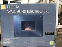 Brand new wall hung electric fire