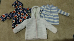 Girls fall outerwear - 4 item lot - size 18-24 months