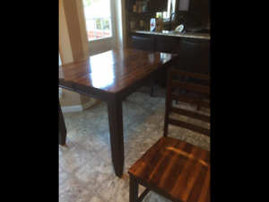 Pub style table chairs and buffet