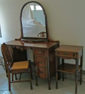 Dressing Table, Chair & Side Table For Sale