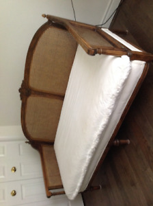 Antique cane settee French Country