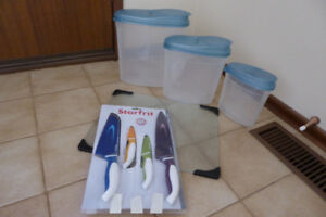Set of 4 Starfrit knives, Glass counter protector, and more...