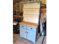 Annie Sloan Upcycled Kitchen Dresser Cabinet with built in lights