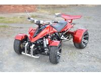 ★ 2016 SPY RACING VIPER 350F1 ROAD LEGAL QUAD BIKE RED 350CC DELIVERY AVAILABLE - IMMACULATE ★