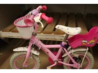 Child Bike with Stabilisers (pink)