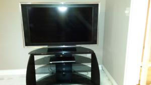 Sony television, stand and DVD player