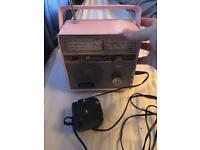 Cute pink radio