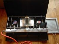 Double Burner and Grill Camping Stove