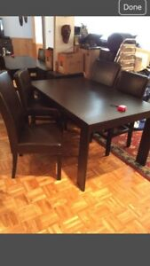 "Gorgeous Espresso Solid Wood Extendable table 61"" x 36"""