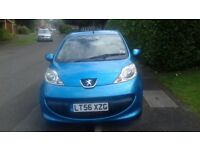 Peugeot 107 Auto, 62,000 miles, Blue, £20 year tax, new clutch, service history, Factory Spoiler