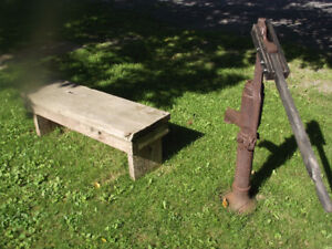 Wood Garden Bench made from 150 yr old Barn Board