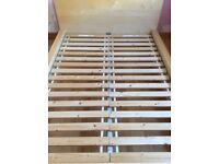 Ikea Malm Double Bed Frame with Sultan Laid slats