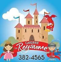 Garderie Le Royaume - Spaces Available