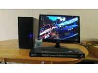 Custom Quad PC- New Business PC Desktop Tower & 22 Samsung HD LCD