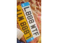 "Private number plate ""L888 WTF"" Original 3D Carbon"